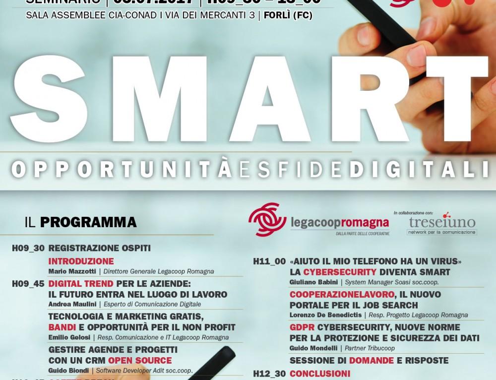 """""""SMART"""", IL 5 LUGLIO A FORLÌ SEMINARIO GRATUITO CON L'ESPERTO DIGITALE ANDREA MAULINI"""